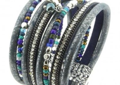 Armband exlusief zilver-grijs Ibiza (1)