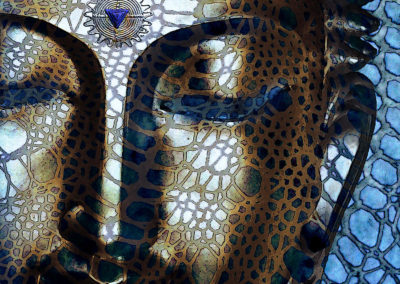 web-of-dharma-modern-blue-buddha-art-christopher-beikmann